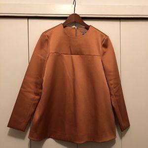 COS Burnt Orange Long Top (Size 6 US)